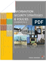 Information Security Strategies And Policies - Assignment No. 08