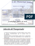 Exposicion de Inge II Transporte de Solidos