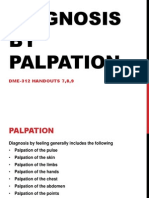 Diagnosis by Palpation in Traditional Chinese Medicine