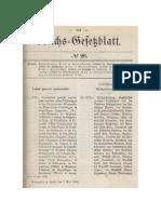Weltpostvertrag vom 4. Juli 1891 in Wien