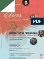 Plakat Elias-Konzert Berlin 8.11.09