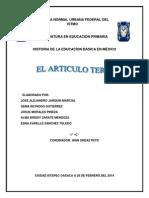 El Contraste Del Articulo Tercero de La Constitucion Politica de Los Estados Unidos Mexicos de 1917 y La Reforma Del 2013 PDF