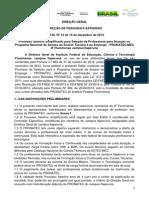 Edital n 14 Prof Pronatec _ Itaperuna