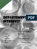 Morning Report Departement of Interna