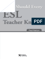 What Should Every ESL Teacher Know -Paul Nation