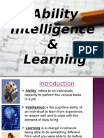 Ability, intelligence & learning