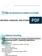 MM 323 MAN SYS 2013 FALL 1 Introduction Material Handling Systems