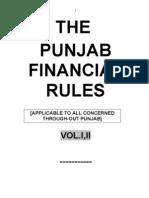 Punjab Financial Rules (PFR) Volume-1