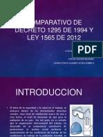 Comparativo de Decreto 1295 de 1994 y Ley