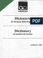 Dicionário de Termos Siderúrgicos