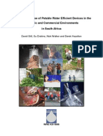 The Status and Use of Potable Water