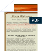 Oil Lamp Bible Passages