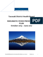 2013 12 Taranaki DHB Rheumatic Fever Prevention Plan