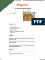 Une Recette de Cuisine Marmiton - Paupiettes de Dinde Sauce Volaille