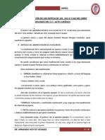 Acto jurídico - Art. 141, 141-A y 142