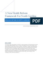 Duke/UNC Student Medicaid Reform Plan