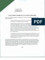 2014-02-28 - Childers for Senate Press Release