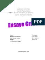 Ensayo Investigacion Ciencias Sociales