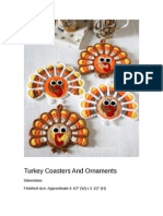 Turkey Coasters and Ornaments