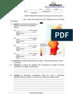 Ficha5- variação radiação solar em portugal