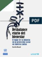 2013 unicef cepal rossel niños desbalance etario bienestar