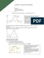 11 Teorema de Rolle y Teorema Del Valor Medio