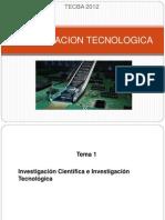 INVESTIGACION TECNOLOGICA TECBA_tema1_2012.ppt
