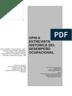 Entrevista Historica del Desempeño Ocupacional