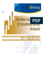 Presentacion Ley 1438 de 2011 Bucaramanga