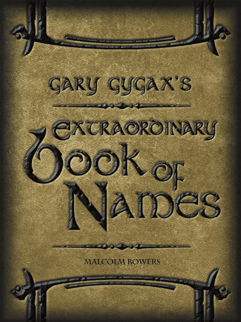 Gary Gygax s Extraordinary Book of Names  1ce027406b
