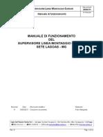 Manuale Di Fuzionamento - Supervisore Linea Montaggio Curs