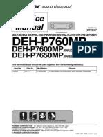Pioneer Deh-p760mp p7600mp p7650mp
