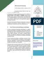 Colegio de Politólogos de La Paz. Circular Institucional Nº 1 para la Matriculación y la construcción de la Guía Profesional de Politólogos y Politólogas.