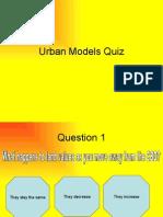 Urban Models Quiz