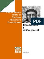 Curso Carisma Misionero Franciscano o