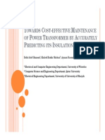 Towards Cost-Effective Maintenance of Power Transformer by Accurately Predicting Its Insulation Condition