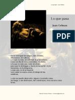 Lo Que Pasa - Juan Gelman