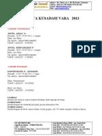 Oferta Vacanta Kusadasi 2013 - Tomis Travel