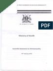 Uganda - Ministry of Health Report on Homosexuality