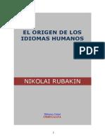 El Origen de Los Idiomas Humanos