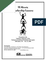 10 Minute Leadership Lessons