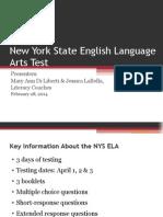 New York State English Language Arts Test 2014