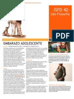 Informe Problematica Embarazo Adolescente