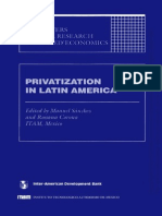 Privatizations en LatinAmerica - BID - 1993