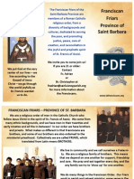 Franciscan Friars Informational Brochure