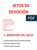2.-BENDICION DE OBJETOS DE DEVOCIÓN