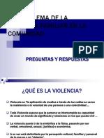 Violencia Familiar en La Comunidad