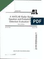 Radar Probabilidad de Deteccion Herramienta Matlab