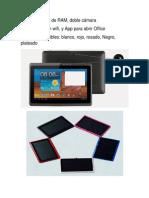 Caracteristicas de Tablet