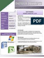 Programa de Software I 2014